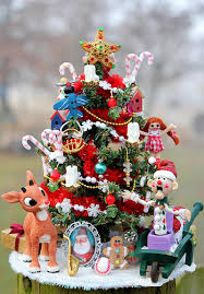 miniature rudolph the nosed reindeer theme tree a