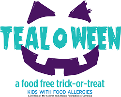 tealoween food free trick or treat asthma and allergy foundation