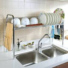 dish drainer for small side of sink side draining dish rack equipment best commercial rust proof kitchen