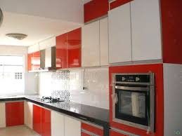 modern galley kitchen ideas kitchen cabinets astounding red cabinets and white acrylic