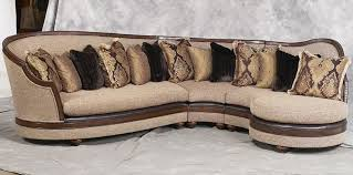 exposed wood frame sofa donatella luxury exposed solid wood frame sectional sofa price