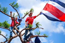Costarican Flag In Costa Rica One Big Party Following Spectacular World Cup Win