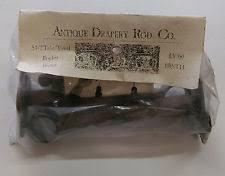 Rubbed Bronze Curtain Rod Antique Drapery Rod Co Window Treatment And Hardware Ebay