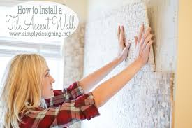 master bathroom remodel part 9 how to install a tile accent wall