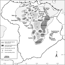 Southern Africa Map by A Continental Scale Perspective On Landscape Evolution In Southern