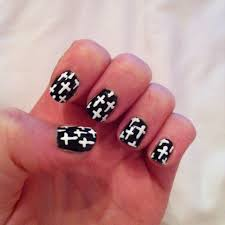 nail art black cross beautiful pink and black nail designs