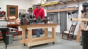 Build Wood Workbench Plans by Building A Strong Workbench Frame Made Of All 2x6 Boards Youtube
