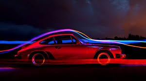your ridiculously luminous porsche 911 wallpaper is here