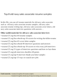 resume exles for sales associates top 8 navy sales associate resume sles 1 638 jpg cb 1431742722