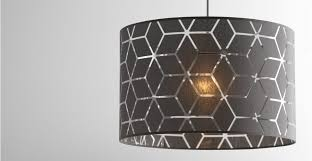 Cheap Ceiling Lights Uk Grey Patterned Ceiling L Shade Hem Made