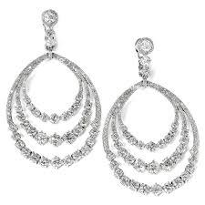 dangling diamond earrings diamond dangle hoop earrings 14k white gold row