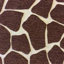 giraffe chenille animal print safari africa brown nature home