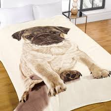 sitting dog puppy pug bedding twin or full duvet cover comforter