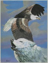 eagle and white wolf print wolves prints and