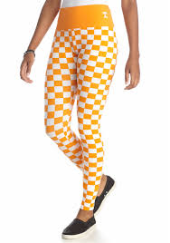 loudmouth university tennessee volunteers checkerboard leggings