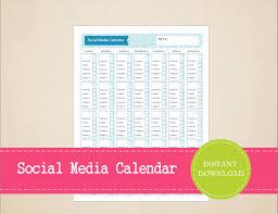monthly social media planner social media content calendar