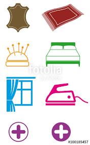 pictogramme chambre pictogrammes pour pressing laverie blanchisserie couture hôtel