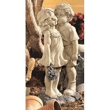 design toscano sweethearts children garden statue