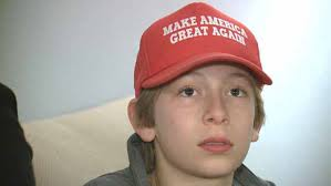 Cristina Autor En Ecortina 12 Year Attacked By Peers For Wearing Maga Hat Gets