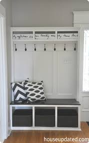 Mudroom Entryway Ideas Built In Mudroom Entryway System Knock Off Decor Entryway