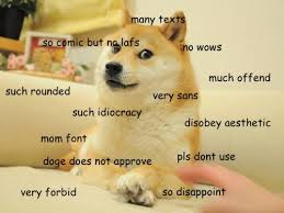 Doge Meme Font - much typo such wow