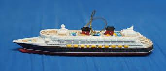 disney cruise line resin ornament figurine ship