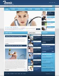 website template 54447 tennis online news custom website template