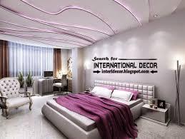 modern plaster ceiling designs and purple led lights for bedroom