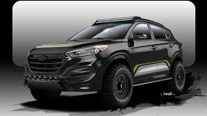 jeep hyundai hyundai hunts scantily clad sema models with camper tucson autoweek