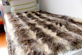 Faux Fur Comforter Set King Coyote Faux Fur Twin Queen King Bedding Decor Long Plush Fur