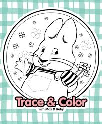 trace and color with max nickjr printables play u0026 learning