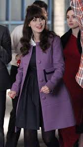 zooey deschanel new girl fashion wwzdw what would zooey deschanel s purple coat with pockets on new girl wwzdw what