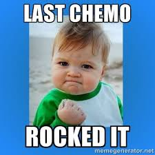 Chemo Meme - a light at the end of a dark tunnel cancer donuts and healing