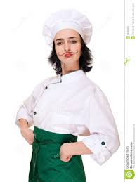 chef costume woman in chef s costume stock image image 23431011