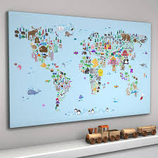 World Map For Kids Animal World Map Print By Artpause Notonthehighstreet Com