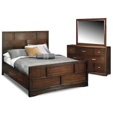 mosaic 6 piece queen bedroom set dark brown value city