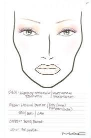 mac makeup face charts mac face charts blank mac face chart