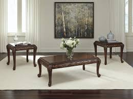 ashley t562 13 florrilin reddish brown 3 pc coffee and end table set