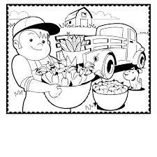 Brilliant Full Size Farm Coloring Page With Farm Coloring Pages Farm Color Page