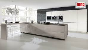cuisines alno alno inox kitchen in metallic gold alno s steel kitchen line