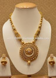 golden jewellery necklace images Gold plated designer temple jewellery necklace set for women buy jpg