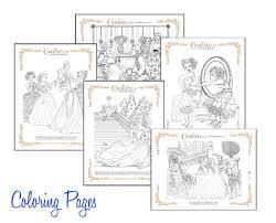 free cinderella printables coloring sheets crafts