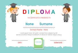 preschool certificates certificates kindergarten and elementary preschool kids diploma