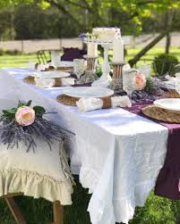Shabby Chic Tablecloth by Outdoor Dining Shabby Chic Style Hallstrom Home