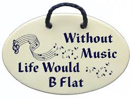 without music life would b flat ceramic wall plaques handmade in