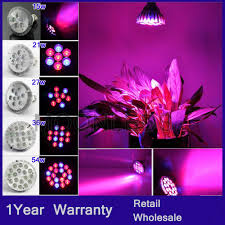 e27 15w 21w 27w 36w 54w led plant grow light bulb hydroponic