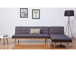 prix canap conforama canapé d angle convertible 4 places en tissu maja coloris gris