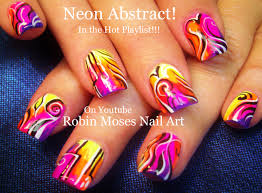 robin moses nail art rainbow animal print design to bring out