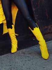 womens boots yellow batgirl costume yellow boots 15090386 cosercosplay com