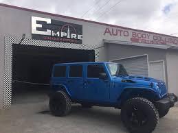 jeep gray blue blue custom jeep wrangler empire collision experts
